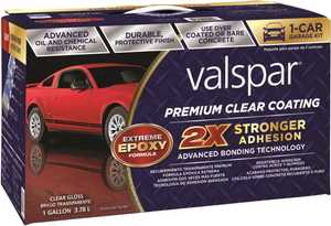Valspar 81052 Premium Clear Coating For Garage Floor Epoxy
