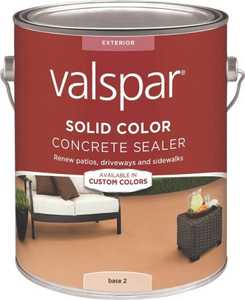Valspar 82022 Solid Color Concrete Sealer Base 2 One Gallon