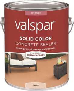 Valspar 82024 Solid Color Concrete Sealer Base 4 One Gallon