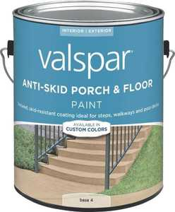 Valspar 024.0082033.007 Anti-Skid Enamel Porch And Floor Paint Base 4 1 Gal