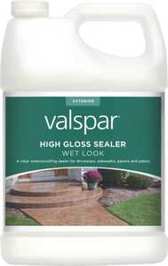 Valspar 82390 Wet Look High Gloss Concrete Sealer One Gallon