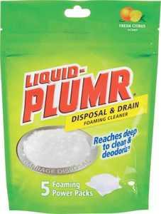 Clorox Co. 30717 Liquid Plumr Disposal & Drain Foaming Cleaner Fresh Citrus