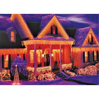 Holiday Basix U04Z008C 150 Count Clear Icicle Light Set