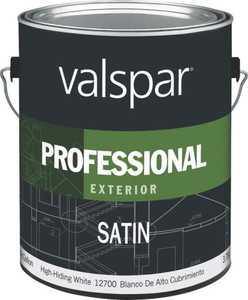 Valspar 12700 Professional Exterior Latex Paint Satin White 1 Gal