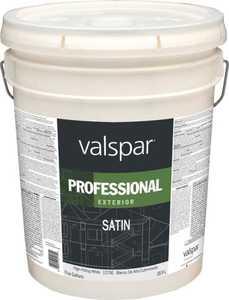 Valspar 12700 Professional Exterior Latex Paint Satin White 5 Gal