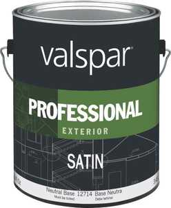 Valspar 12714 Professional Exterior Latex Paint Satin Neutral Base 1 Gal