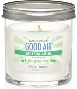 The Yankee Candle Company 1198008 6-Ounce Just Plain Fresh Odor Eliminating Candle
