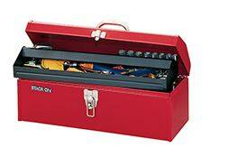 Stack-On 6532014 Tool Box Hip Roof Red 19 in