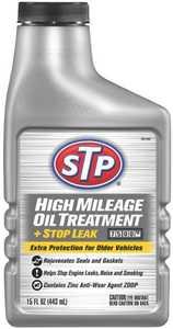 STP 78595 High Mileage Oil Treatment Plus Stop Leak 15 oz