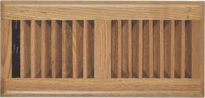 Imperial RG2195 4x12 In Louvered Design Floor Register Light Oak Finish