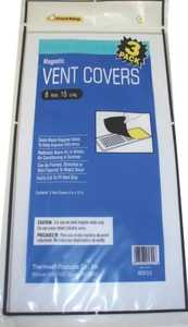 Thermwell Products MC815/3 Frost King Magnetic Ventilation Cover Aluminum Brown 8x15 In
