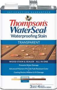 Thompsons 6530984 Stain Waterproof Transparent Acorn Brown 1 Gal