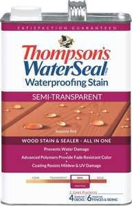Thompsons 6531081 Stain Waterpr Semitran Red 1 Gal