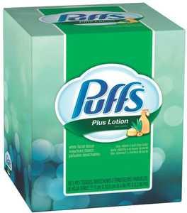 Orgill Inc 34864 Puffs Plus Lotion Facial Tissues 56 Count Cube