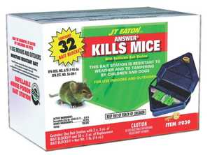 J.T. Eaton & Co., Inc. 1573211 Mouse Bait Station Refillable Indoor/Outdoor