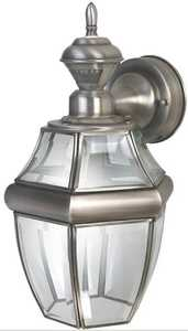 Heath HZ-4166-SA 150° Motion Activated Decorative Light Antique Silver