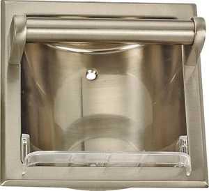 MintCraft 0770024 Brushed Nickel Soap Holder With Grab Bar