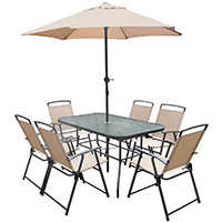 Orgill Inc 8358343 Patio Set Folding Chair 8pc