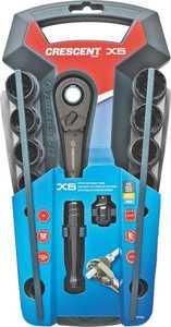 Crescent CX6 Pt 20 Pass Through Socket Set 3/8 In Spline Drive 20 Pieces