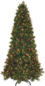 Holiday Basix 8517-H51210-01 7.5 ft Alpine Lodge Holiday Christmas Tree