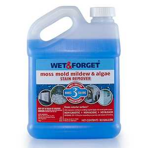 Wet and Forget, Inc 800003 Moss Mold Mildew And Algae Stain Remover Outdoor, 1/2 Gal