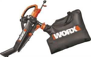Worx 8381840 Electric 3-In-1 Blower Mulching Vacuum
