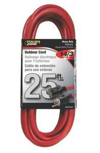 Powerzone 4332722 Heavy Duty Outdoor Extension Cord 25 ft