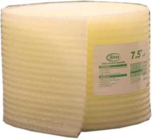 TVM BUILDING PROD 75075 Sill Seal Polyethylene Yellow 7-1/2 In W X 50 Ft L X 1/4 In T