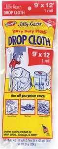 Warp Brothers JCS912 Heavy Duty Drop Cloth, 9x12 Ft , Plastic