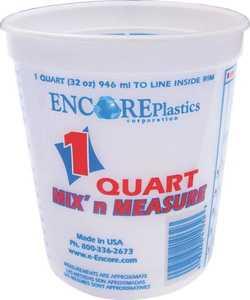 Encore Plastics 300343 Disposable Plastic Paint Container, 1 Quart