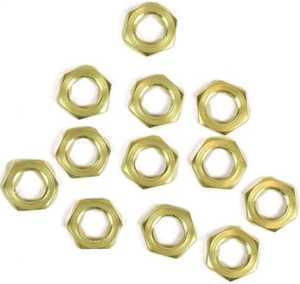 Jandorf 3404324 1/8-Inch Brass Hex Nut
