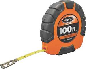 Keson Industries ST181003X Steel Measuring Tape 100 Ft