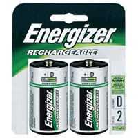Energizer Battery NH50BP-2 Recharge Nimh D Battery 2pk