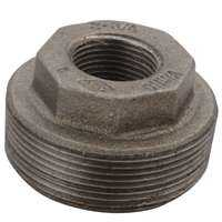 World Wide Sourcing 6100275 2x1 1/2 Black Hex Bushing