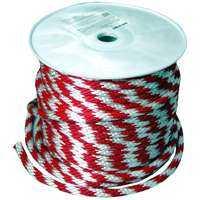 Wellington-cordage 46411 Rope Polyp Brd Red/White 5/8x200