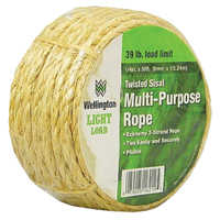 Wellington-cordage 16212 Rope Sisal 1/4 x 50 Ft