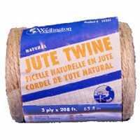 Wellington-cordage 14255 Natural Jute Twine 208 Ft