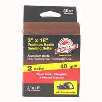Ali Industries 3179 3x18 in 40grit Aluminum Ox Belt 2pk