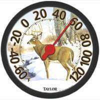Taylor Precision Products 6709E Indoor/Outdoor White Tail Deer Thermometer
