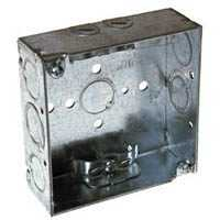 Raco 8211 4 in Sq Outlet Box W/1-1/2 in Ko