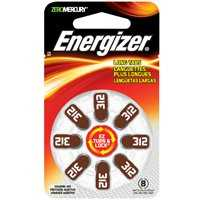 Energizer Battery AZ312DP-8 #312 Hearingaid Battery