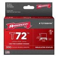 Arrow Fastener Co 721168HW 13/64 T72 in ul Staple 300/Pk