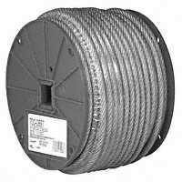 Campbell Chain 700-0427 1/8 in Uncoated Cable 500 ft