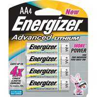 Energizer Battery EA91BP-4 Energizer Advanced Lith Aa 4pk