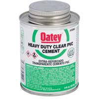 Oatey 30850 4 oz Lovoc Pvc Heavy Duty Clear Cement