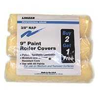 Linzer Products RS1433 3pc 9 in Paint Roller Cover Set