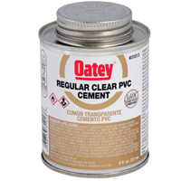 Oatey 31014 16 oz Lovoc Pvc Reg Clr Cement