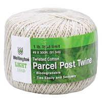 Wellington-cordage 14299 Twisted Cotton Postal Twine 300 Ft