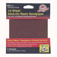 Ali Industries 4074 100 Grit Psa 1/4 Sheet 5pk