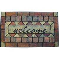 Homebasix 7042799 Rubr Floor Mat Welcome 18 in X30 in